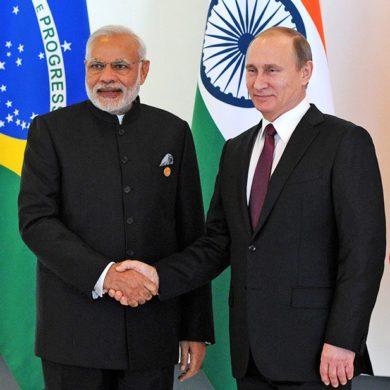 В. В. Путин наградил премьера Индии орденом Андрея Первозванного